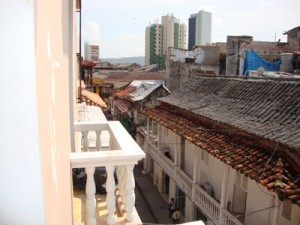 The roof tops of Cartagena