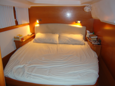 Our Cabin.  Buon Vento has 4 cabins just like this.  Each cabin has a private head and shower.