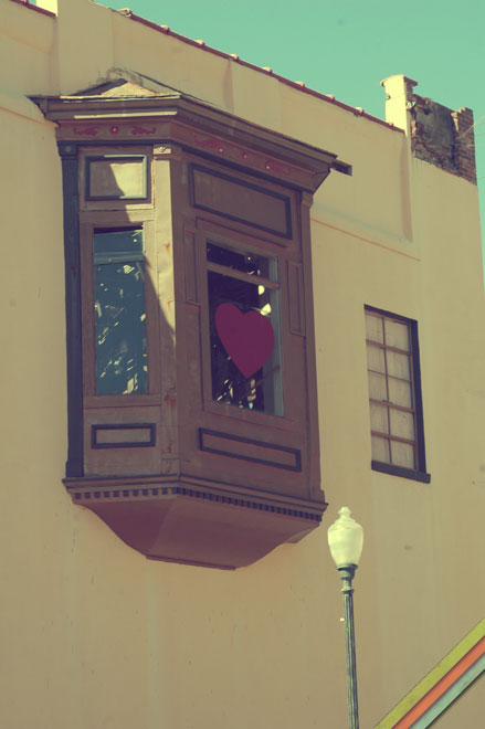 Heart Painted on a Window