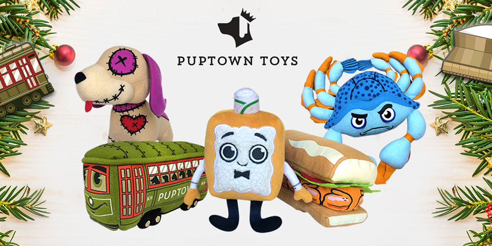 Puptown New Orleans Dog Toys illustraiton