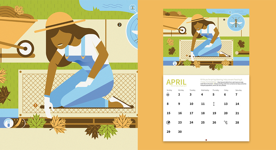 Spring cleaning illustration