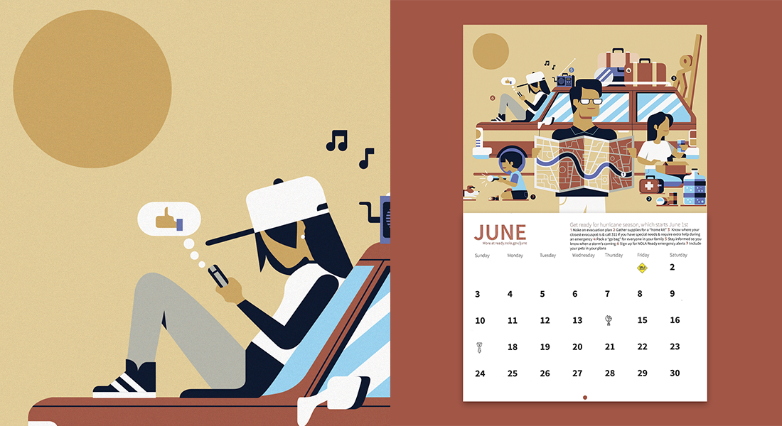 Nola Ready Calendar Illustrations Hop Amp Jaunt